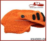 Fresh Orange The Original Crochet Knight Hat Beanie Hat