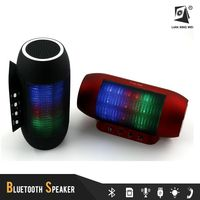 T2218 outdoor bluetooth speaker with mic portable buletooth 2 speaker new design bluetooth speaker with led lights