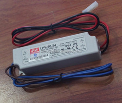 Meanwell LPV-20-24 power supply for led strip, switching power supply adapter, led power supply driver