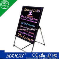 advertising products neon led writing board with CE& ROHS Certificates