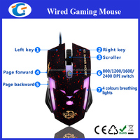 6D Wired Optical Slient Click Customization Gaming Mouse With Breathing Light