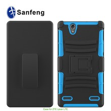 Hot sell 5.5 inches or over case 6 inches phone case for ZTE Lever lte 3 in 1 holster cover with kickstand belt clip
