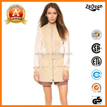 2015 china online shopping woman belt safari silk lady jacket