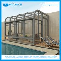 New design aluminum sunroom winter garden glass house greenhouse