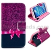 Rose Bowknot Gift Wallet Leather Flip Case Cover for Samsung Note 3 Neo/Lite N750/N7505