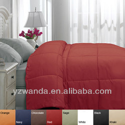 ALT CHOCOLATE BROWN / SAGE / KHAKI Down-proof 100%cotton Goose Down Comforter For Home/Hotel Customized in china