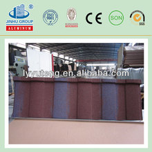 Metal roofing sheet stone coated tiles