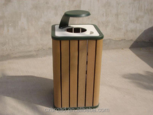 2014 High Quanlity Cheap Outdoor Environment WPC Dustbin/Trash Can