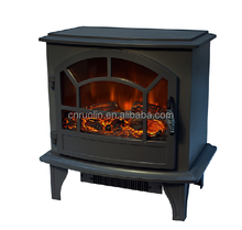 simulated decorative fire flames fireplace heater, classic electric fireplace