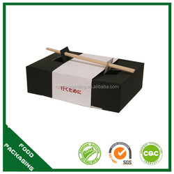 Custom printable logo easy to go food box,sushi box with chopsticks