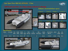 Liya 2.4m to 8.3m china semi rigid inflatable boats for sale