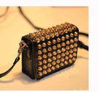 hot sale brand new 2015 fashion women handbag rivet desigual vintage bag pu leather shoulder messenger bags rushed special offer