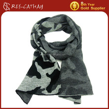 jacquard military camouflage scarf for men