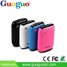 Guoguo Dual USB 5V 2A 6600mAh High Capacity Power Bank External Battery Charger for Smartphone