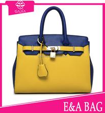 Color fashion womens leather handbag factory ,ladies leather handbag manufacturer online shopping