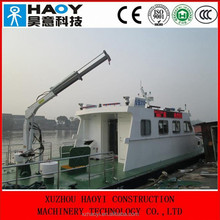 10 ton used crane ships for sale with electric hydraulic 3 folding arms for sale