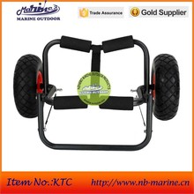 Aluminum canoe and kayak carrier, Canoe trolley sold, Trolley with No-flat wheel