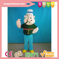 Funny toys !!! lovely Popeye mascot costume ,popular movie human character mascot costume