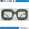 2015 Full frame colorful fake diamond hot popular promotional future-proof party glasses (HS1507013)