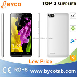 china wholesale mobile big 5.5inch IPS screen android 4.4 mobile phone unlocked
