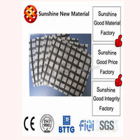 fiberglass geogrid coated with modified bitumen composite geotextile fabric