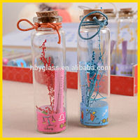 60ml/2oz 37*120mm test tube glass bottle with cork/gift bottle with cork
