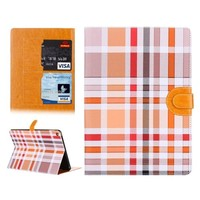 Top quality Colorful Plaid Pattern leather case cover for ipad air 2 case