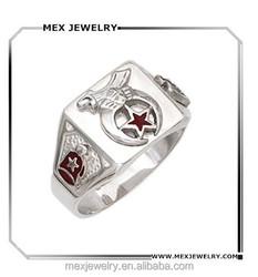 925 Silver Mens Masonic Freemason Shriner Ring With Best Quality