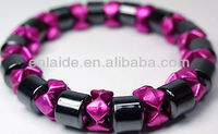 New! Gray Pink Healing Magnetic Hematite Pain Therapy Bracelet Arthritis SALE