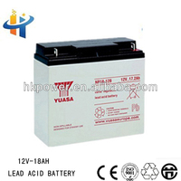 Yuasa 12V 18AH sealed lead acid storage battery, long life span battery, 18AH back up battery