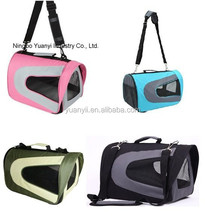 Fashion Pet Carrier Sling Bag Fabric Travel Soft Sided Dogs Cat Bag crate