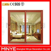 aluminum main door design/aluminum hotel door/office sliding glass door