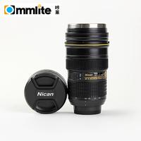 1st Generation Stainless Steel Camera Lens Car Heating Coffee Mug for Nikon