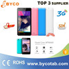 unlocked gsm mobile smart phone quad core dual sim card slots android 4.4 mobile phone