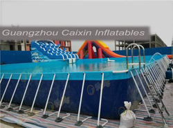 hot selling welded folding swimming pool / safety removable portable folding temporary swimming pool fence
