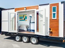 china factory container house with wheels