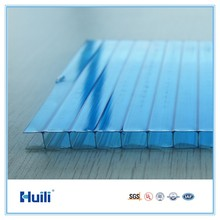 Good U-value 100% Sabic Lexan Raw Material Twinwall Lexan Crystal Polycarbonate Hollow Sheet For Roofing