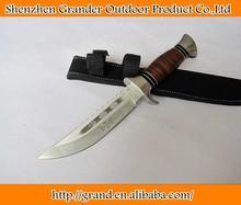 leather aluminum handle jungle knife camping hunting knife 4159