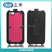 Hot new products for 2015 hybrid cell phone case for iPhone 6 with back clip