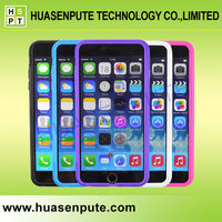 Hot High Quality Touch Screen Protector Flip TPU Mobile Phone Case Cover With Colorful Back Shell For iPhone 6 Plus