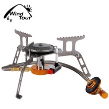 Powerful And Portable lightweight Stove Burner With Stainless Steel Ignition Device For Camping