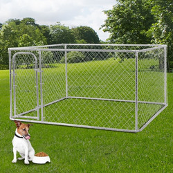 Cheap US and Canada New Design High Quality Iron Fence Dog Kennel