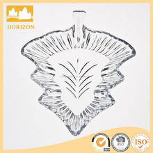 Crystal Glass Christmas Tree Decorative Plate