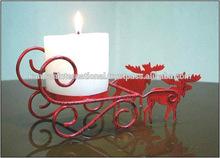 Renos pilar vela titular, rojo pilar vela titular para la navidad, los titulares de pilar para la navidad