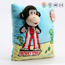 Plush monkey animal pillow,soft home decor toys,plush emoji /car pilllow toys
