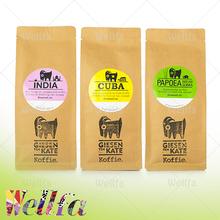 Eco Friendly Coffee Packaging Bags Craft Paper Coffee Bean Packaging Bags