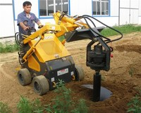 Tree hole earth drilling machines