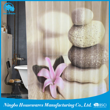 Factory Direct Sales All Kinds Of waterproof printed nature shower curtains