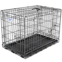 professional manufacturer pet crate 2 Doors Pet Folding pvc coated Dog Cage