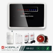 Factory directly offer! burglar alarm system, latest burglar alarm system wireless gsm home alarm system kit!(KR-G12)